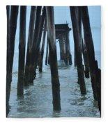 Ocean City 59th Street Pier Fleece Blanket