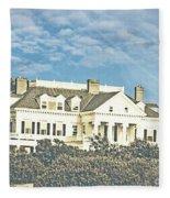 Ocean Drive Mansion Ri Fleece Blanket