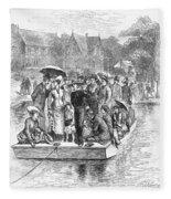 Ocean Grove Ferry, 1878 Fleece Blanket