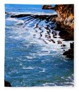 Ocean Lines Fleece Blanket