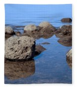 Ocean Rocks Fleece Blanket