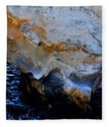 Shell Beach Ocean Tunnel Fleece Blanket