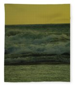 Ocean Waves Coming In Near Sunset Fleece Blanket