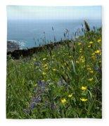 Ocean Wildflowers Fleece Blanket