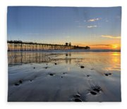Oceanside Pier Fleece Blanket