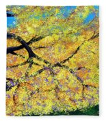 October Fall Foliage Fleece Blanket