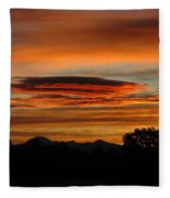 October's Colorful Sunrise 2 Fleece Blanket