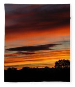 October's Colorful Sunrise Fleece Blanket