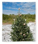 Oh Christmas Tree Florida Style Fleece Blanket