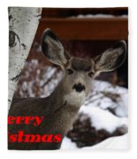 Oh Deer Merry Christmas Fleece Blanket