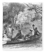 Ohio River: Emigrants Fleece Blanket