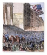 Ohio: Union Parade, 1861 Fleece Blanket