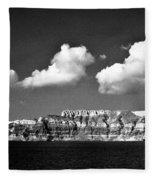 Oia Greece Fleece Blanket