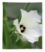 Okra Flower Fleece Blanket