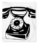 Old Analogue Phone Fleece Blanket