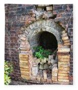 Old Antique Brick Kiln Fire Box Fleece Blanket