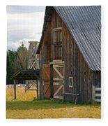 Old Barn Doors Fleece Blanket