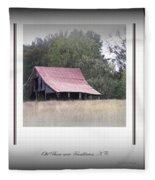 Old Barn - Edge Of The Field Fleece Blanket