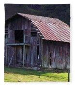 Old Barn In Etowah Fleece Blanket