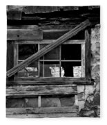 Old Barn Window Fleece Blanket