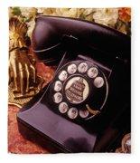 Old Bell Telephone Fleece Blanket