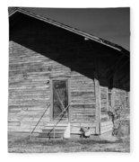 Old Belle Mina Railroad Station Fleece Blanket