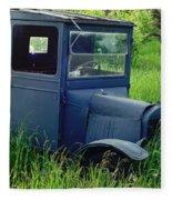 Old Blue Ford Truck Fleece Blanket