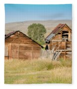 Old Building Woodruff Utah Fleece Blanket