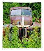 Old Car Grave Yard Fleece Blanket