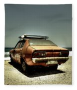 Old Car Fleece Blanket