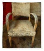 Old Chair Fleece Blanket