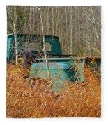 Old Chevy In The Field Fleece Blanket