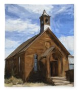Old Church At Bodie Fleece Blanket