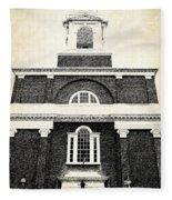 Old Church In Boston Fleece Blanket