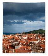Old City Of Dubrovnik Fleece Blanket
