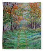 Old Country Road Fleece Blanket