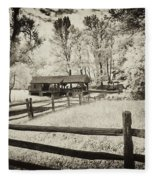 Old Country Saw-mill - Toned Fleece Blanket