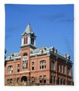 Old Courthouse Powhatan Arkansas 1 Fleece Blanket