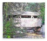 Old Covered Bridge Fleece Blanket