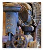Old Drill Press Fleece Blanket