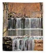 Old Erie Canal Locks Fleece Blanket