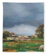Old Farm - Monyash - Derbyshire Fleece Blanket