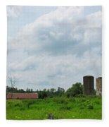 Old Farm Ruins 02 Fleece Blanket