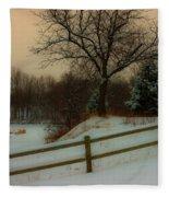 Old Fashiion Winter Fleece Blanket