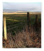 Old Fence And Landscape At Point Reyes California . 7d9968 Fleece Blanket