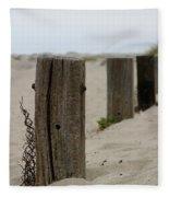 Old Fence Poles Fleece Blanket