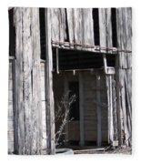 Old Frisco Barn Fleece Blanket