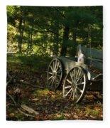 Old Frontier Wagon 1 Fleece Blanket