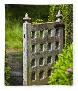 Old Garden Entrance Fleece Blanket