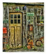 Old General Store Hdr Fleece Blanket